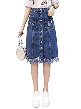Women's Aline Skirt Fashion High Waist Pocket Skirt
