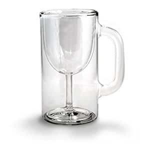 Fred & Friends WINESTEIN Double-Walled Stemware Mug