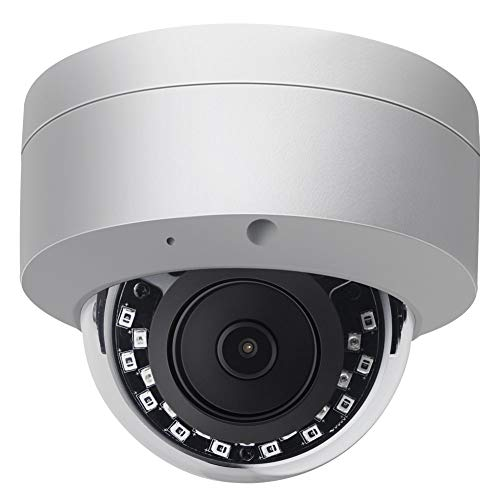 4K POE IP Camera Outdoor Dome VK-IMD38-AS,2.8mm Fixed Lens,3840×2160, 82ft Night Vision,Built in Audio Input,SD Slot,Compatible with Hikvision NVR Plug and Play,Support Onvif,H.265,IP66 Waterproof