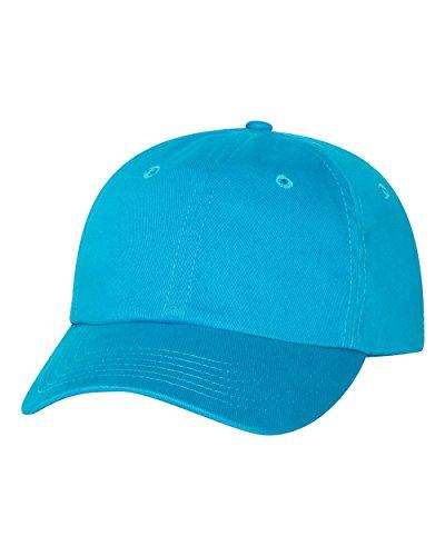 Joe's USA(tm) Adjustable Bio-Washed Twill Hat Cap-Neon Blue