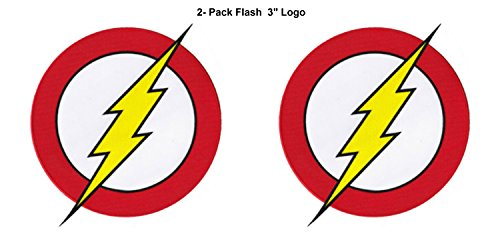 [2-Set DC Comics Flash Lightning Bolt Logo 3