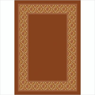 - Design Center Copernicus Dark Coral Rug Size: 5'4