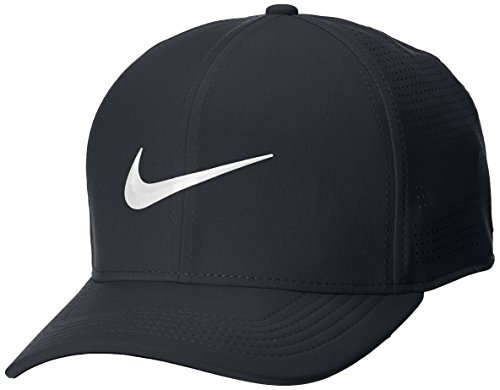 (Nike AeroBill Classic 99 Performance Golf Cap 2018 Black/Anthracite/White Medium/Large)