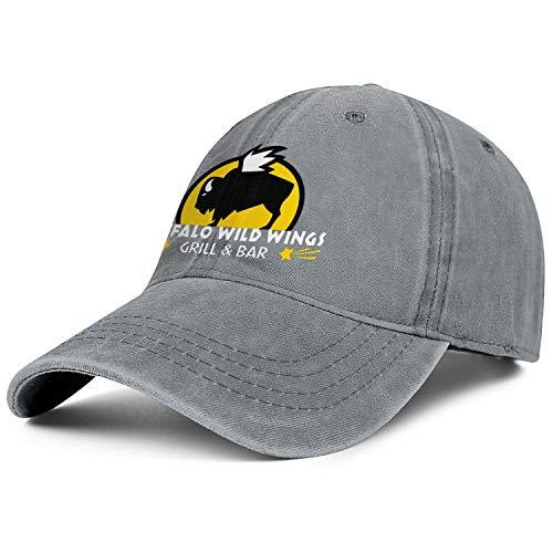 Mens Womens Buffalo-Wild-Wings- Adjustable Retro Summer Travel Hats Baseball Washed Dad Hat Cap ()