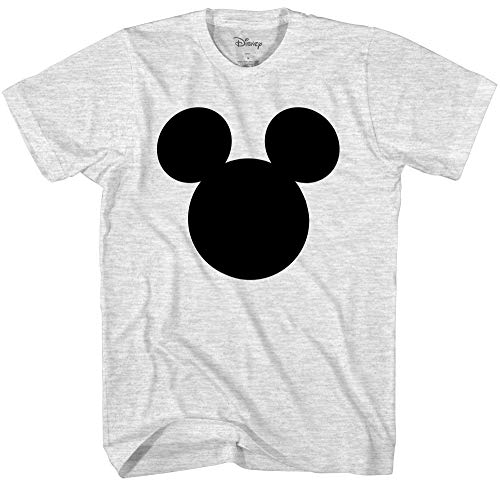 Disney Mickey Mouse Head Silhouette Men's Adult Graphic Tee T-Shirt (Small, Ash Heather) for $<!--$18.99-->
