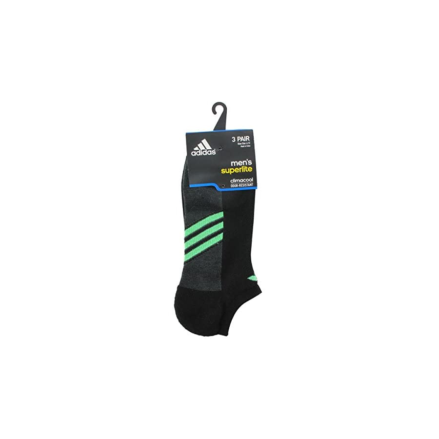 adidas Men's Climacool Superlite No Show Socks (3 Pack)