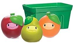 Munchkin Squirtin' Strain Fruit Basket Bath Toy, Apple/Pear/Orange