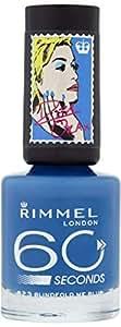 Rimmel 60 Seconds Rita Ora Nail Polish 823, Blind Fold Me Blue (RM937-46)