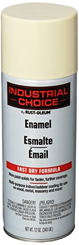 (Rust-Oleum 1696830 Antique White 1600 System General Purpose Enamel Spray Paint, 16 fl. oz. container, 12 oz. weight fill, Can (Pack of 6))