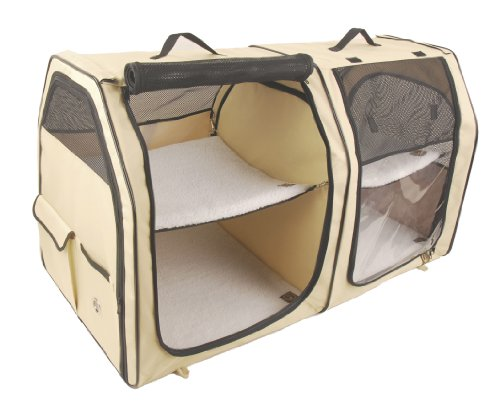 Portable Shelter Dog : Cat show house portable dog kennel shelter red cream