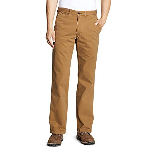 Eddie Bauer Men's Legend Wash Chino Pants - Classic Fit, Aged Brass Regular  34/30 Regular Aged Brass (Brown) (Eddie Bauer Pants)