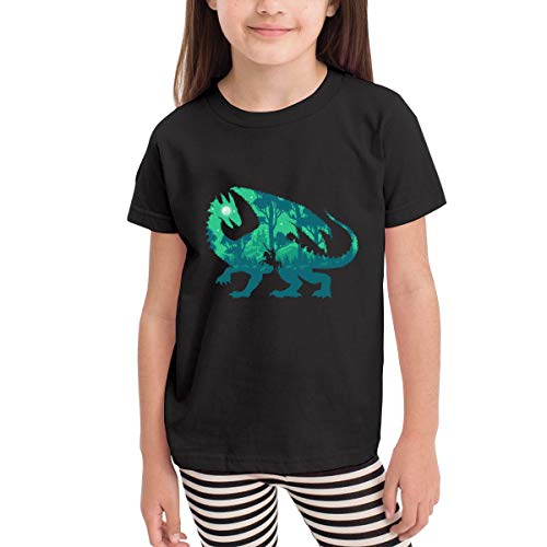 Night Dragonslayer 100% Organic Cotton Toddler Baby Boys Girls Kids Short Sleeve T Shirt Top Tee Clothes 2-6 T Black
