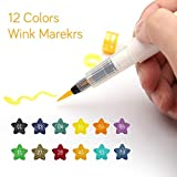 12 Colors Art Marker Wink of Stella Brush Glitter Markers Brush Pen for Sparkle Shine to Lettering Stamping Project