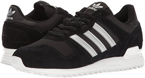 Adidas Originals Men's ZX 700 Running Shoe, Black/Matte Silver/Utility Black, 10 M US