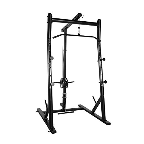 CAP Barbell Cap Power Cage with High-Low Pulleys, Black
