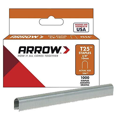 Arrow Fastener 256 Genuine T25 3/8-Inch Staples, 1,000-Pack (Arrow T2025 Staple Gun)