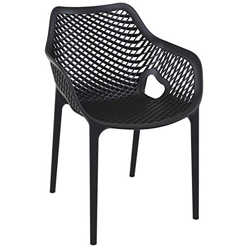 - Compamia Air XL Outdoor Dining Arm Chair Set of 2 - Black