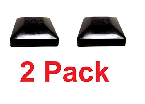 BLACK-6X6 FENCE POST PLASTIC CAP- Pick a Pack (5 5/8 X 5 5/8) Pressure Treated Wholesale/BULK pricing (2)