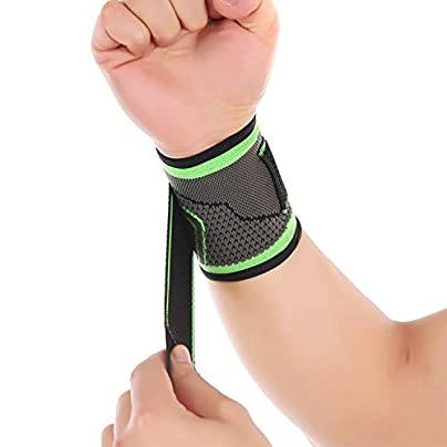 Weaving Straps Fitness Wristband Gym Badminton Powerlifting Wrist Support Brace Wrist Wraps Estimated Price £10.36 -