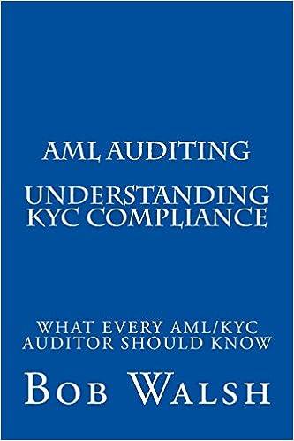 Aml Auditing Understanding Kyc Compliance Volume 1