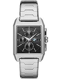 Men's Quartz Watch with Stainless Steel Strap, Silver, 20 (Model: BMW8007)