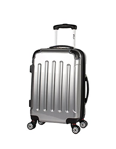 iFLY Luggage Ifly Carbon Racing Hard Sided Luggage Silver 20