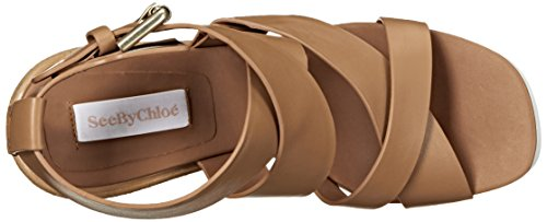 Women's Sandal Brown Chloé By Chloé Sb26074 Platform See Light RtO4q4