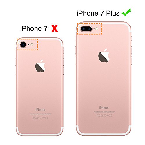 iPhone 7 Plus Case, iPhone 8 Plus Cover, MOSNOVO Tropical Cactus Clear Design Printed Transparent Plastic Case with TPU Bumper Protective Case Cover for iPhone 7 Plus (2016) / iPhone 8 Plus (2017) Photo #2