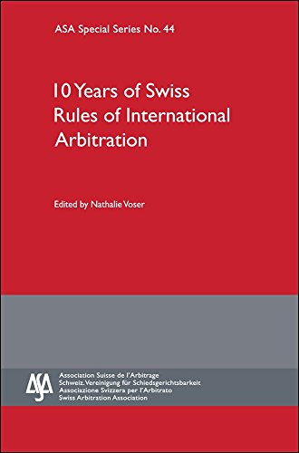 Ten Years of Swiss Rules of Internationa - 44 Swiss Shopping Results