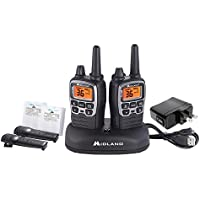 Midland Consumer Radio T71VP3 X-TALKER, 36 Channel FRS Two-Way Radio - Up to 38 Mile Range Walkie Talkie, 121 Privacy Codes & NOAA Weather Scan + Alert - Pair Pack - Black/Silver