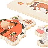 ThinkMax 4 Pcs Wooden Peg Puzzles for