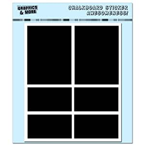 Graphics and More Simple Rectangles Container Bin Labels Drink Markers Chalkboard Vinyl Stickers - Set of 4 Sheets