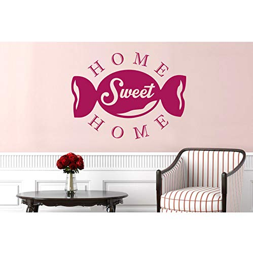 hwhz 45 X 60 cm Confectionery Home Sweet Home Wall Stickers Vinyl Art Decals Warm and Romanticwall Decals -