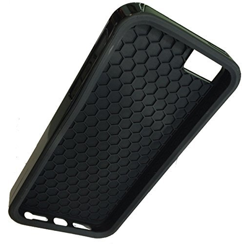 Pokedex Black 2in1 Hardshell with Rubber Insert Case for iPhone 4/4S