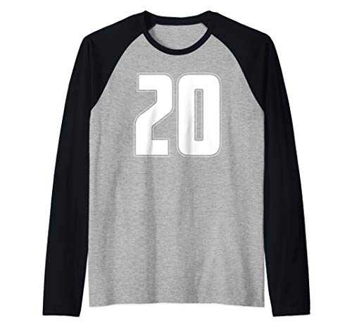 Halloween Group Costume #20 Sport Jersey Number 20 20th Bday Raglan Baseball Tee