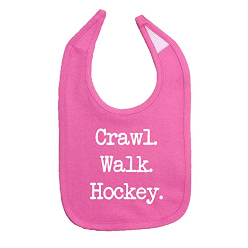 So Relative! Unisex Baby Crawl Walk Hockey Cotton Baby Bib (Hockey Baby Bib)