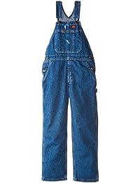 Big Boys' Denim Bib Overall 100% Cotton With Hammer Loop...