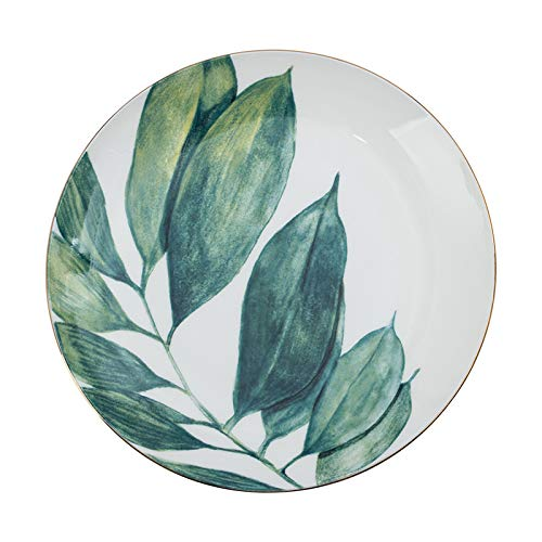 Phnom Penh dish plate 8 inch household breakfast tableware simple bone china plate creative ceramic plate blue 20cm