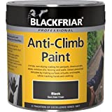 Blackfriar Anti Climb and Anti Vandal Paint Black - 1 Litre by Blackfriar