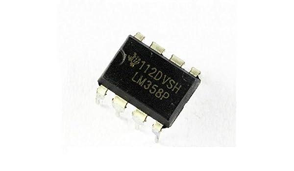 10 Pcs LM358P OPAMP DUAL 0-70DEG C 8-DIP  W