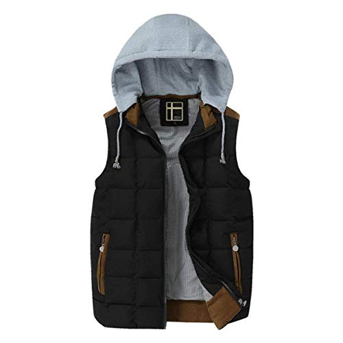 Sizes Winter Black Men and Autumn Down Warm Men Breathable Jacket Lightweight Vest Cotton Vest Vest Comfortable Clothing Jacket Fashion w5U0qF0