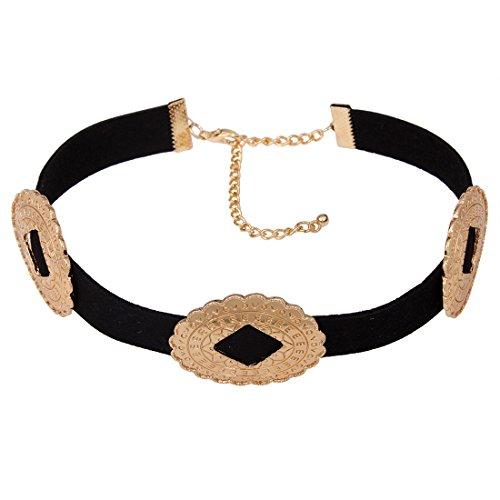 Girl Era Vintage Punk Choker Black PU Leather Collar Necklace Womens Costume Jewelry(g) ()