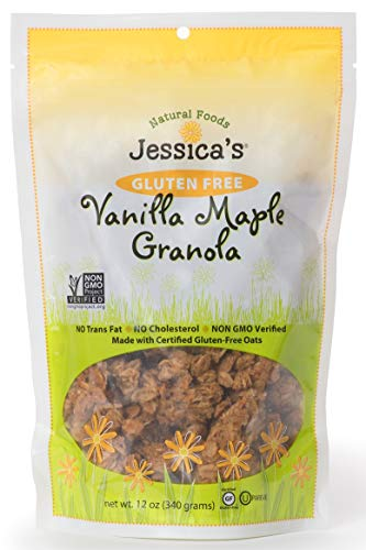 (Jessica's Natural Foods Gluten Free Vanilla Maple Granola 12 oz. - All Natural Granola Non GMO Breakfast Cereal and Snack, Certified Gluten Free - Vanilla Maple)