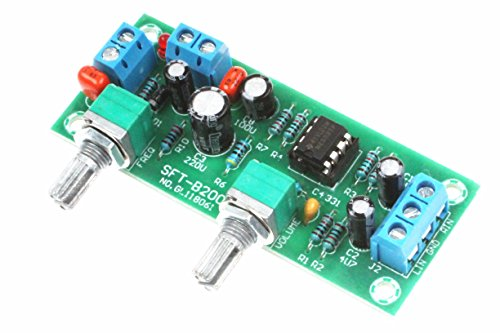 NE5532 Single Supply Low-Pass Filter Board DC10-24V 22Hz-300Hz Subwoofer Pre-Amplifier Preamp (Ic Dual Audio Preamp)