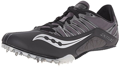 Saucony Mens Spitfire Track Shoe, Negro/Gris, 45 D(M) EU/10 D(M) UK
