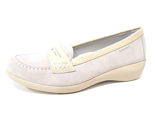 Stonefly scarpe donna mocassino zeppa bianco ghiaccio 104050