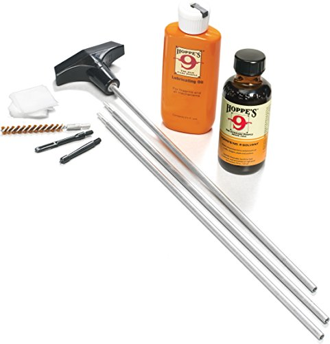 Hoppe's No. 9 Cleaning Kit with Aluminum Rod, Universal .22-.225 Caliber Rifle/Pistol 22 Cal Rifle Cleaner