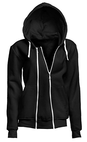 Happy Mama. Womens Maternity Warm Hoodie Zip Front Top Removable Insert. 355p (Black, US 6/8, L)