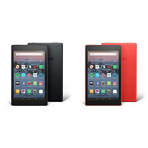 All-New Fire HD 8 2-Pack, 16GB - Includes Special Offers (Black/Punch Red)