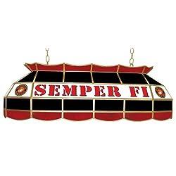 "United States Marine Corps Tiffany Gameroom Lamp, 40"""